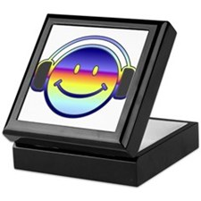 Smiley Headphones Keepsake Box