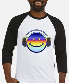 Smiley Headphones Baseball Jersey