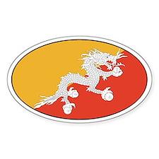 Bhutan stickers Oval Decal