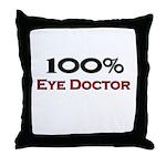 100 Percent Eye Doctor Throw Pillow