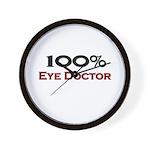 100 Percent Eye Doctor Wall Clock