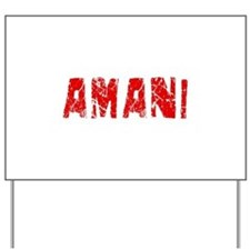 Amani Faded (Red) Yard Sign