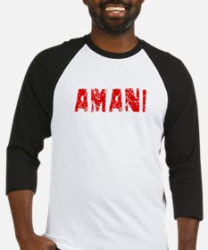 Amani Faded (Red) Baseball Jersey