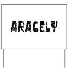 Aracely Faded (Black) Yard Sign
