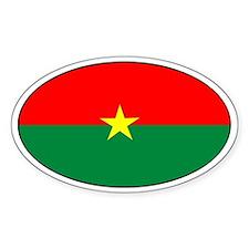 Burkina faso stickers Oval Decal