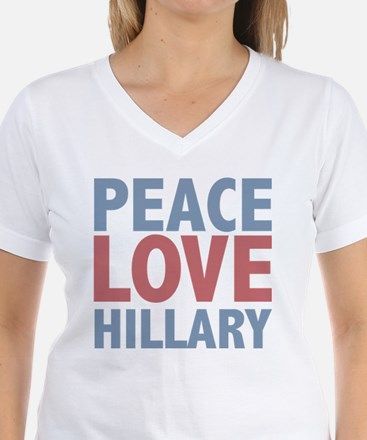 Peace Love Hillary Clinton Shirt