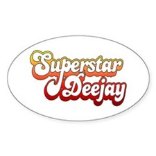 SuperStar DeeJay Oval Decal