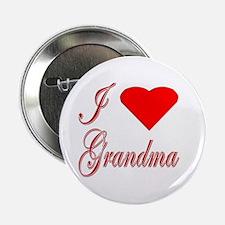 I Love Grandma-Heart Button