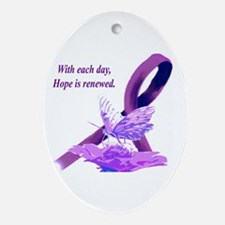 Cute Disability Oval Ornament