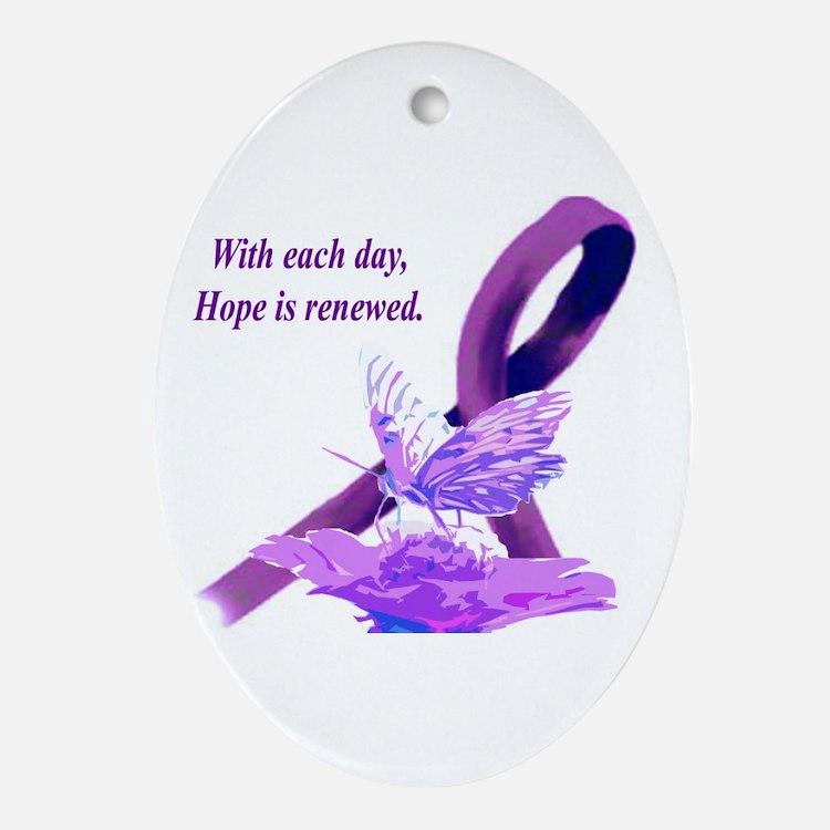 Cute Fibromyalgia Oval Ornament