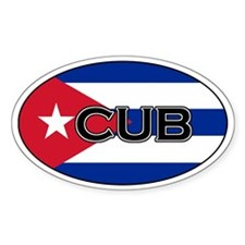 Cuban stickers Oval Decal