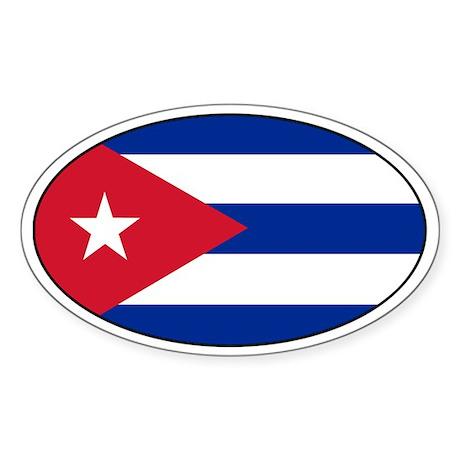 Cuban stickers Oval Sticker
