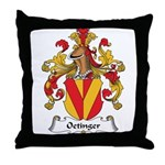 Oetinger Family Crest Throw Pillow