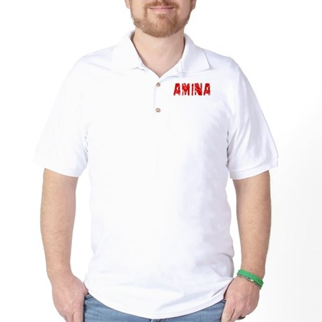 Amina Faded (Red) Golf Shirt