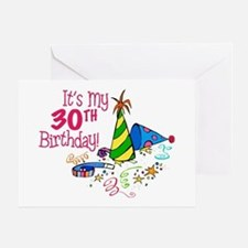 It's My 30th Birthday (Party Hats) Greeting Card