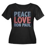 Peace Love Ron Paul Women's Plus Size Scoop Neck D