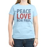 Peace Love Ron Paul Women's Light T-Shirt
