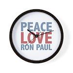 Peace Love Ron Paul Wall Clock