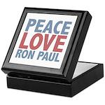 Peace Love Ron Paul Keepsake Box