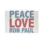 Peace Love Ron Paul Rectangle Magnet (10 pack)