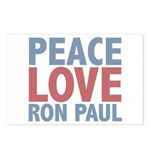 Peace Love Ron Paul Postcards (Package of 8)