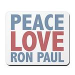 Peace Love Ron Paul Mousepad