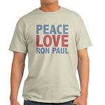Peace Love Ron Paul Light T-Shirt