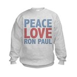 Peace Love Ron Paul Kids Sweatshirt