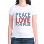 Peace Love Ron Paul Jr. Ringer T-Shirt