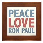 Peace Love Ron Paul Framed Tile