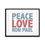 Peace Love Ron Paul Framed Panel Print