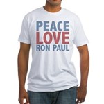 Peace Love Ron Paul Fitted T-Shirt