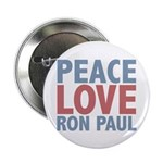 "Peace Love Ron Paul 2.25"" Button (10 pack)"