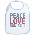Peace Love Ron Paul Bib