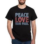 Peace Love Ron Paul Dark T-Shirt