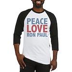 Peace Love Ron Paul Baseball Jersey