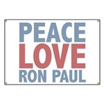 Peace Love Ron Paul Banner