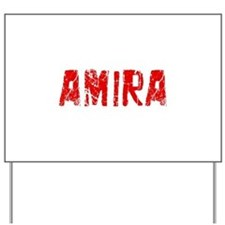 Amira Faded (Red) Yard Sign