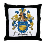 Oelhafen Family Crest Throw Pillow