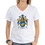 Oelhafen Family Crest Women's V-Neck T-Shirt