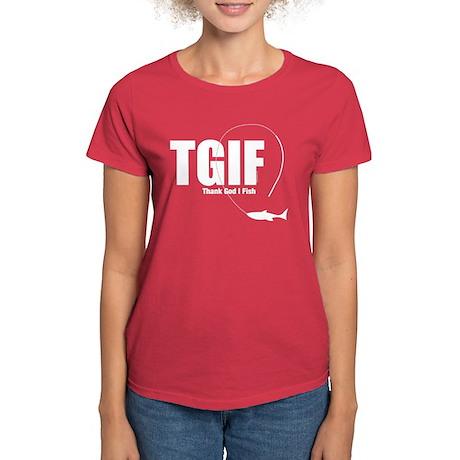 TGIF Fishing Women's Dark T-Shirt