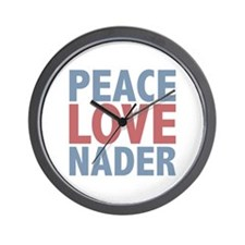 Peace Love Ralph Nader Wall Clock
