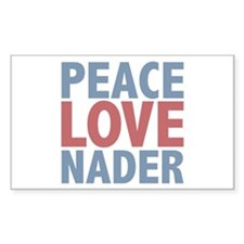 Peace Love Ralph Nader Rectangle Sticker 10 pk)