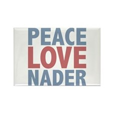 Peace Love Ralph Nader Rectangle Magnet