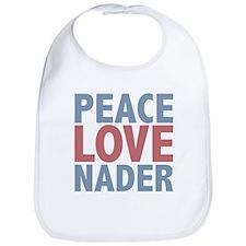 Peace Love Ralph Nader Bib