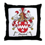 Odendal Family Crest Throw Pillow