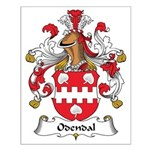 Odendal Family Crest Small Poster