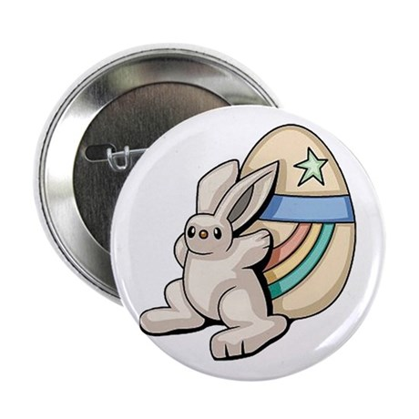 """Super Easter Bunny 2.25"""" Button (10 pack)"""