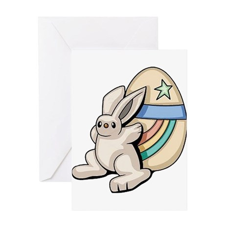 Super Easter Bunny Greeting Card