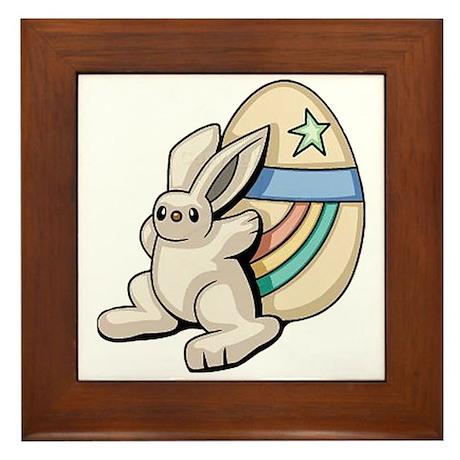 Super Easter Bunny Framed Tile